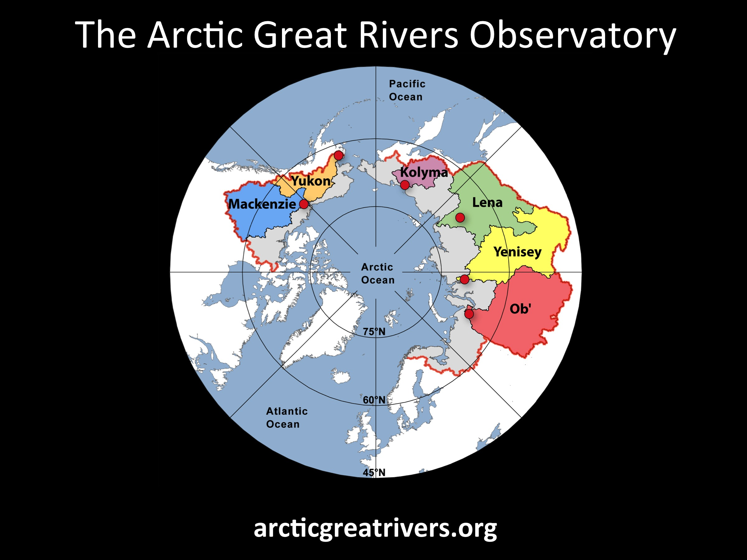 Arctic Great Rivers Map