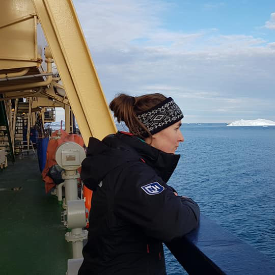 UNH Student in the Arctic