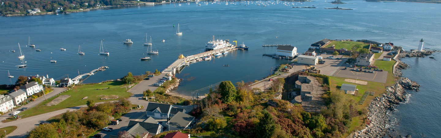 aerial view of judd gregg marine science complex