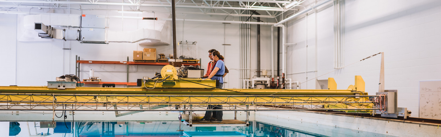 Engineering Tank at the Chase Ocean Engineering Laboratory