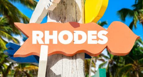 Rhodes Greece sign