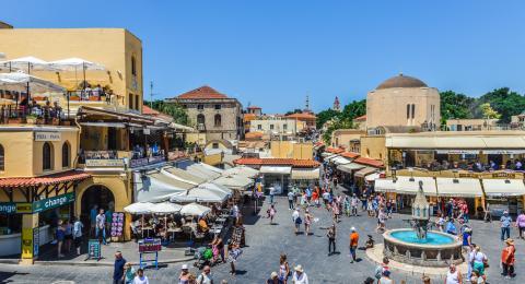 Rhodes Greece Market View