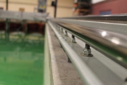 wave/tow tank linear guides